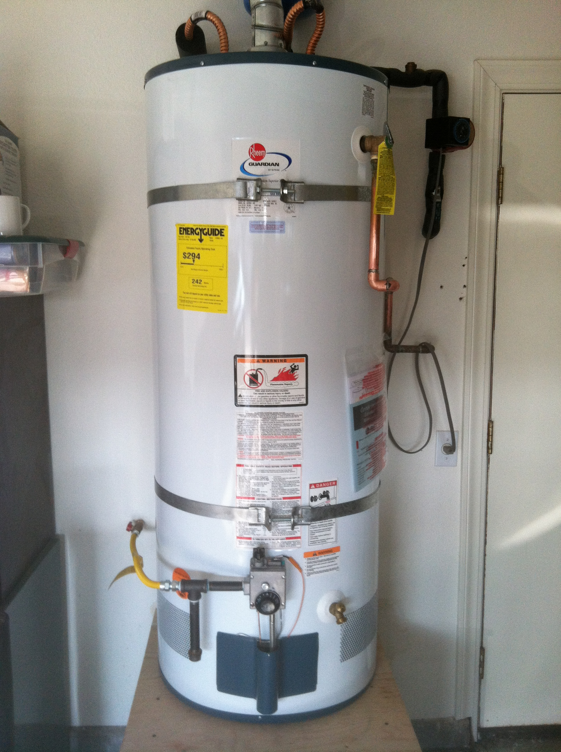 How to vent a hot water heater - Hot Water Heater
